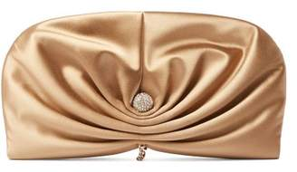 Jimmy Choo - Vivien Satin Clutch Bag - Womens - Nude