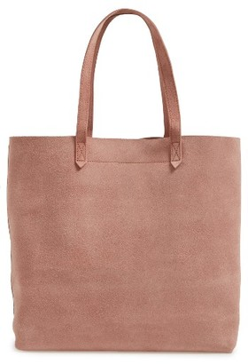 Madewell Medium Suede Transport Tote - Beige $178 thestylecure.com
