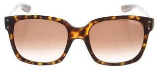 Bottega Veneta Tortoiseshell Square Sunglasses