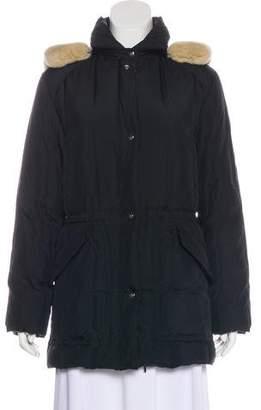 Salvatore Ferragamo Fur-Trimmed Down Jacket