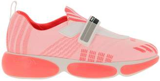 Prada Sneakers Clodbust Sneakers In Technical Fabric And Rubber With Maxi Sole And Buckle By
