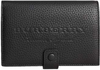 Burberry Embossed Grainy Leather Folding Wallet