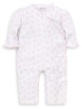 Kissy Kissy Baby's Bunches of Bows Printed Ruffled Cotton Playsuit