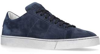 Santoni Suede Gloria Sneakers