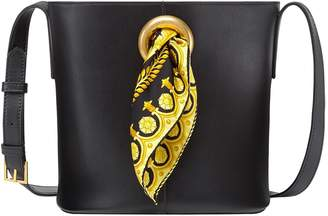 Versace Baroque Sash Leather Bucket Bag be61d7c602314