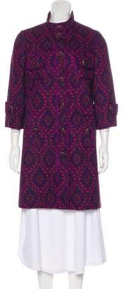 Andrew Gn Printed Knee-Length Coat