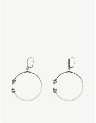 Alexander McQueen Silver-toned skull hoop earrings