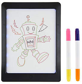 "Glow Pad GlowPad XL 8""x11"" Pad with 4 Neon Markersand LED Lights"