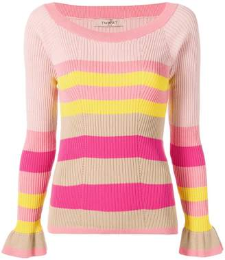 Twin-Set striped fitted sweater