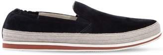 Prada Saint Tropez Suede Slip-On Sneakers