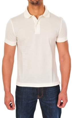 Tom Ford Polo Poloshirt Men's Off-White Regular Fit Cotton Casual