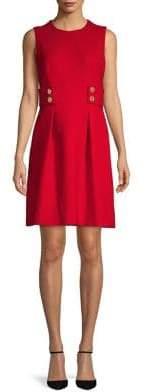 Anne Klein Twill Fit & Flare Dress