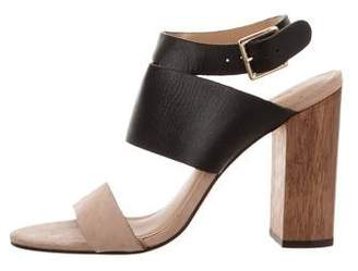 Elizabeth and James Round-Toe Leather Sandals