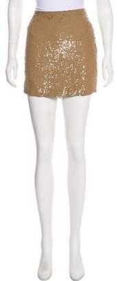 Haute Hippie Mini Sequin Skirt