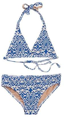 Toobydoo Plumeria Printed Bikini (Toddler, Little Girls, & Big Girls)
