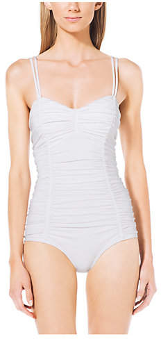 Michael Kors Ruched Maillot Swimsuit