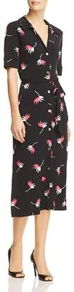 Leota Leaf Print Midi Shirt Dress