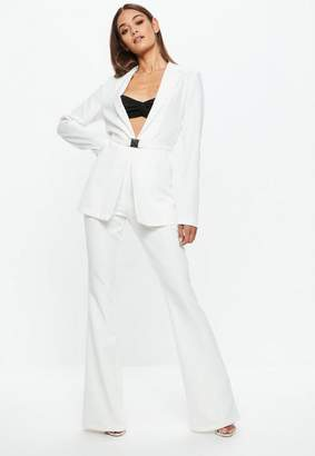 Missguided White Flared Trousers