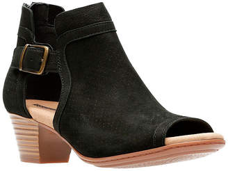cbe8acd585f5f Clarks Collection Women Valarie Kimble Peep-Toe Booties Women Shoes