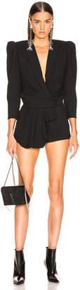 Saint Laurent Draped Front Romper