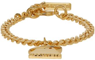 Off-White Off White SSENSE Exclusive Gold Triangle Bracelet