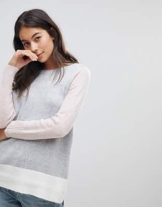 Oasis Side Split Step Hem Color Block Sweater