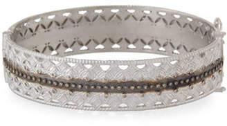 Armenta Double Cravelli Huggie Bracelet with Diamonds
