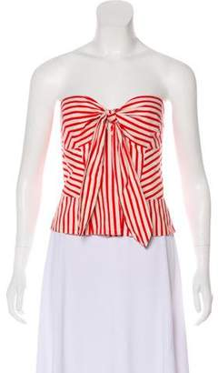 Diane von Furstenberg Halter Neck Striped Top