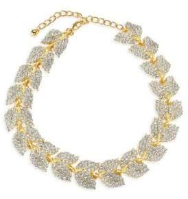 Kenneth Jay Lane Crystal Leaf Necklace