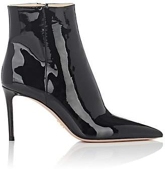Prada Women's Patent Leather Ankle Boots - Nero