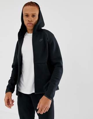 04488c8eb Nike Tech Fleece Zip Through Hoodie In Black 928483-010