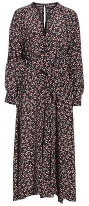 Isabel Marant Lympia Floral Print Silk Dress