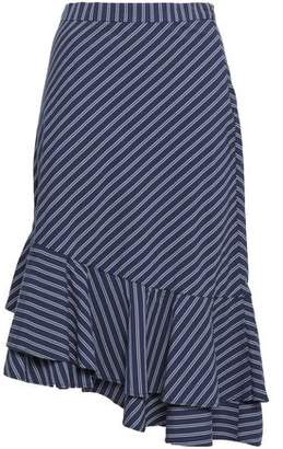 Joie Yenene Striped Stretch-cotton Midi Skirt