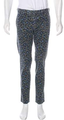 Michael Bastian Animal Print Pants