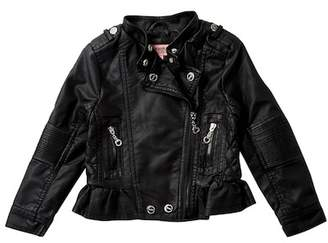 Urban Republic Faux Leather Moto Jacket (Toddler & Little Girls)