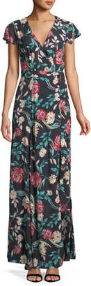Lovers And Friends Kayla Floral-Print Wrap Maxi Dress