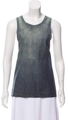 Calvin Klein Collection Distressed Sleeveless Top