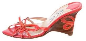 Jimmy Choo Semi-Wedge Slide Sandals