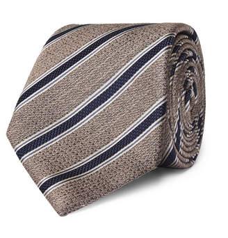 Canali 8cm Striped Textured-Silk Tie