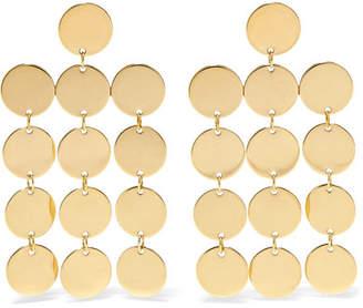 Paillettes Chandelier 18-karat Gold-plated Earrings - one size Saskia Diez Uc2HV
