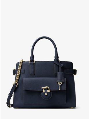 Emma Saffiano Leather Satchel $398 thestylecure.com