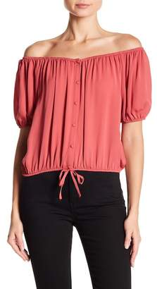 Joie Blesina Silk Off-the-Shoulder Blouse