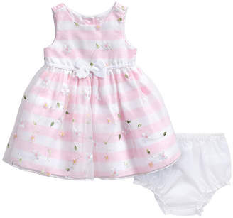 Youngland Young Land Girls Sleeveless Striped A-Line Dress - Baby