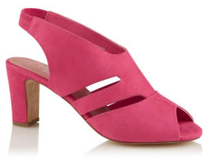 3107b45acc2d0 George Pink Faux Suede Cut Out Heels