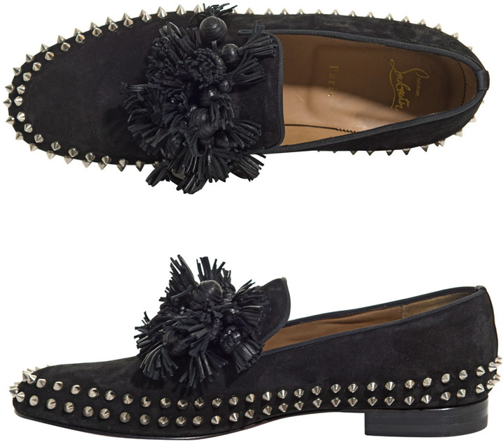 Christian Louboutin Spike and tassel loafers