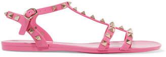 Valentino Garavani The Rockstud Rubber Sandals - Baby pink