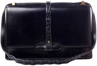 One Kings Lane Vintage Hermès Black Box Shoulder Bag
