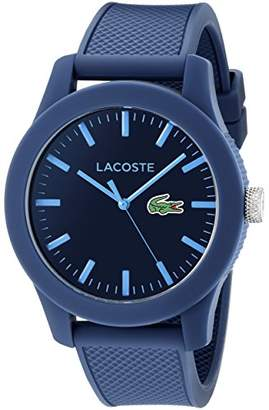 Lacoste Men's 2010765 Lacoste.12.12 Resin Watch with Textured Silicone Band