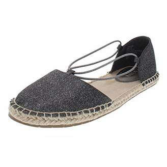 4599a51e0 Kenneth Cole Reaction Women's How Laser Flat Espadrille with Elastic Straps  Wedge Sandal