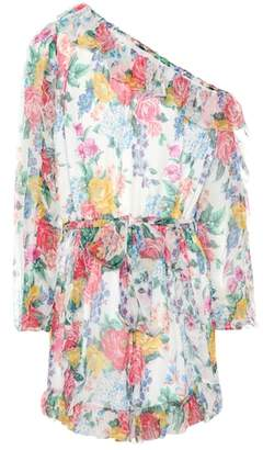 Zimmermann Exclusive to mytheresa.com – one-shoulder silk playsuit